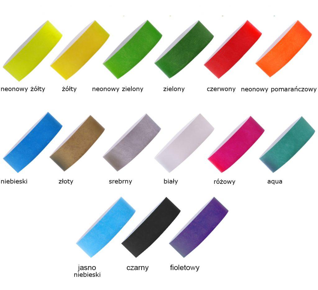 tyvek 25mm z odrywanym kuponem paleta kolorów