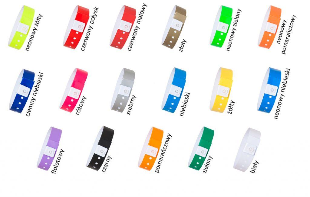 opaski winylowe 19 mm paleta kolorów